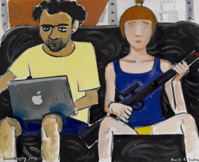 Zoya Cherkassky, David and Sasha, 2012, oil on canvas, 70×60